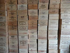 Wooden Wine Box Crate ~ 6 bottle. French, Genuine Storage Planter Hamper