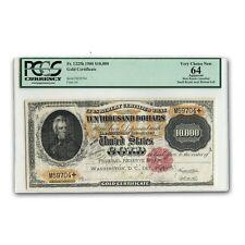 1900 $10,000 Gold Certificate CU-64 Net PCGS