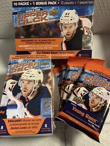 2020-21 Upper Deck Series One Hockey 1x Mega + 1x Blaster  + 4x fat packs