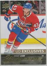 2015-16 UD Exclusives Young Guns #524 Daniel Carr 49/100 Rookie RC montreal