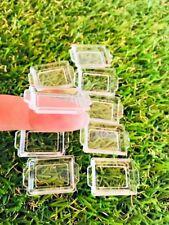 10 Pcs Clear Acrylic Tray Dollhouse Miniature Display Show Food Bakery Cake 1:12