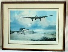 Last Flight Home By Robert Taylor FRAMED Signed by Bomber Command Print 502/850