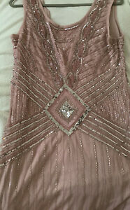 Silver Sequin Flapper Dress Frock And Frill Athena Dress Size 16 RRP £145