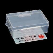 Clear Plastic Storage Jewelry Box Business Card Container Holder Organizer Case