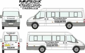 MiniBus Sign Writing decal kit vehicle advertisement business all minibuses
