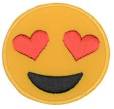 Emoji Smiley Face With Heart-Eyes Patch (Iron on)