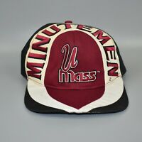 UMass Minutemen NCAA Tri-Color Twins Enterprise Vintage 90's Snapback Cap Hat