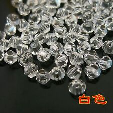 100 PIECES Austrian Crystal Glass Bicone Jewellery Making/Tiaras 4mm BEADS clear