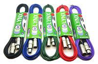 XLR Microphone Cable Mic Lead XLR to XLR Patch Balanced 1m 2m 3m 6m 10m 15m 20m+
