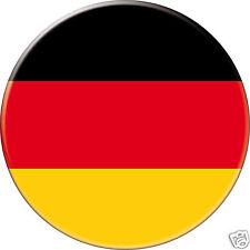MAGNET frigo Ø56 mm coque style badge Allemagne-Germany-Alemania