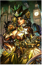 STEAMPUNK ART PRINT 2 by PAOLO PANTALENA SIGNED 11x17