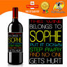PERSONALISED FUNNY WINE BOTTLE LABEL BIRTHDAY CHRISTMAS GIFT