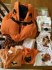 Baby Lot First Halloween Thanksgiving Clothes Size 3 Month Lot Never Used