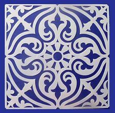 Flexible Stencil *SQUARE MANDALA* Pattern Embossing Card Making 14cm x 14cm