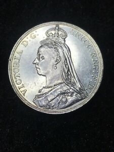 1890 - Great Britain - Silver Crown - Uncirculated