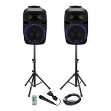Ibiza Sound PKG15A-SET 1000W Sound System Karaoke PA DJ Bluetooth Mic USB