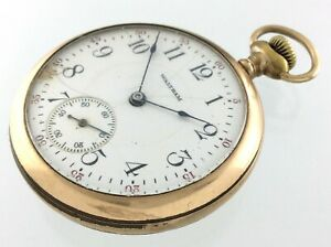Vintage Waltham Pocket Watch PJ Bartlett Sold As Is Parts Value Only R407