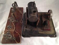 Blechspielzeug alte Bing? liegende Dampfmaschine und Transmission für Bastler