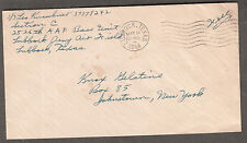 WWII cover S/S Leo Kuschner 2526 AAF Base Unit Lubbock Army Air Field TX to NY