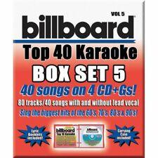 Very Good: BILLBOARD TOP 40 KARAOKE VOL 5 [40 Songs] 4-CD Box Set