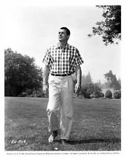 ROCK HUDSON casual still walking around studio grounds - (f389)