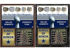 Dallas Cowboys 5-Time Super Bowl Champions Team Photo Card Plaque