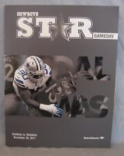 Dallas Cowboys Star Gameday Program Washington Redskins Nov. 30 Game Great Shape