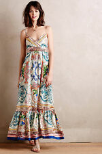 Anthropologie Collette Dinnigan Acionna Silk Maxi Dress Sz L NWT