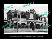OLD POSTCARD SIZE PHOTO OF TOOWOOMBA QUEENSLAND THE POLICE STATION c1930