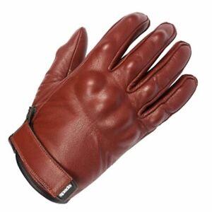 Leather Motorcycle Gloves > Spada Wyatt CE Armoured Short gloves - Ox-Blood