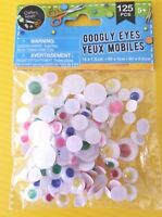Googly Eyes for Crafts, 125 Count, 3 Different Sizes: Multi-color