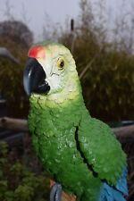 Papagei Garten Figur Skulptur Wohnung Deko Vogel Ara Dschungel Handbemalt Neu