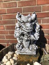 Brunnen Figur Wasserspeier Gargoyle Steinfiguren  Steinguss Gartenfigur W40