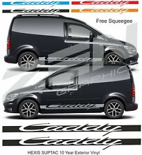 VW Volkswagen Caddy Side Stripes Graphics Decals Stickers Vinyls any colour