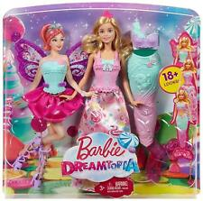 BARBIE DREAMTOPIA FAIRYTALE DRESS UP 3 IN 1 PRINCESS, MERMAID & FAIRY DOLL NEW
