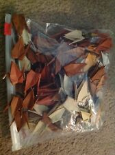 100 Folded small Origami Cranes Handmade, shades of brown and some gray