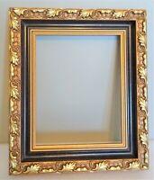 joli cadre de style ancien en bois doré - décor feuilles de chêne