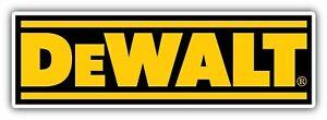 DeWalt Tools Sticker Vinyl Decal 2-319