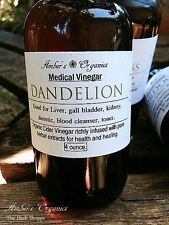 Organic Medicated Dandelion Leaf Herbal Apple Cider Vinegar - Cleanse/Bloat