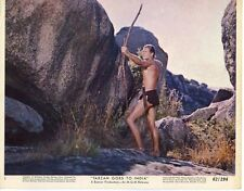JOCK MAHONEY TARZAN GOES TO INDIA  ORIGINAL 8X10 LOBBY CARD #1