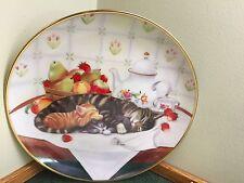 Franklin Mint Kitty Cat Plate - Cat Nap