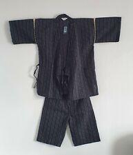 Jinbei Vestito Uomo Originale Giapponese Estivo Yukata Kimono Japan Cotone