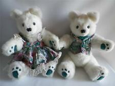 White Redfield Bears Set Boy Girl Teddy Artisan Made Fully Jointed Signed 22""