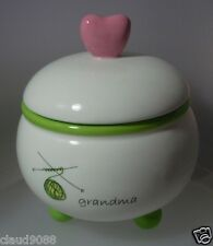 "DEMDACO ""THANKS GRANDMA CANDLE IN A LIDDED JAR"" 71605 MINT IN BOX"