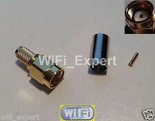 Rp-Sma plug female pin crimp for Rg58 Rg142 Rg400 Lmr195 cable Rf Connector Usa