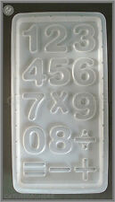 LARGE BLOCK NUMBERS 0 TO 9 & SYMBOLS CHOCOLATE MOULD 15 ON 1 PLASTIC SUGARCRAFT