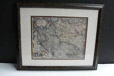 Lovely Vintage World & Europe Antique Maps -Artwork Reproduction–Framed.