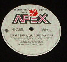 """THE NORTHERN LIGHT ORCHESTRA Jim Mancel  We Had a Dream Song 12"""" DISCO PROMO"""