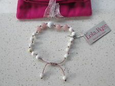 Lola Rose White Pink  Bracelet  With Pink Lola Rose Pouch    BNWT / NEW