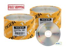 Tiger 16X Logo Top DVD-R Blank Disc 4.7GB Branded Wholesale Lot Made in Taiwan